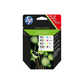 HP 950XL / 951XL- Original- High- Capacity- 4- Ink- Cartridge- Pack