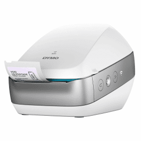 Dymo- LabelWriter- Wireless- Thermal- Transfer- Label- Printer Silver / White