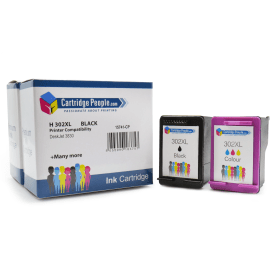Compatible- HP- 302XL- Black- &- Colour- Ink- Cartridge- Pack (Own Brand)