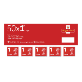 First -Class- Large- Letter- Postage- Stamps- (Pack of 50) SLDN1