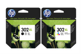 HP- 302XL- Original- Black -and- Tri-Colour -Ink- Cartridge -Pack- *£12 Cashback*