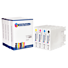 Compatible- Epson- T755- High-Capacity- Black- &- Colour- Ink- Cartridge- 4- Pack (Own Brand)
