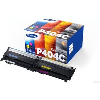 Samsung CLT-P404C (SU365A) Black & Colour Toner Cartridge Multipack (Original)