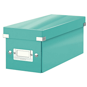 Leitz- 6041- Click- &- Store- CD- Storage- Box - Ice- Blue