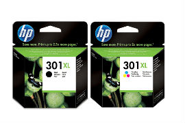 HP- 301XL- Black- and- Tri-Colour- High- Capacity- Original- Ink- Cartridge- Pack *£13 Cashback*