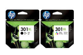 HP- 301XL- Black- and- Tri-Colour- High- Capacity- Original- Ink- Cartridge- Pack *£13 Cashback*