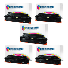 Cartridge People HP 410X (BKx2/C/M/Y) Compatible High Capacity Black & Colour Toner Cartridge 5 Pack (Own Brand)- CF410X / CF411X / CF413X / CF412X