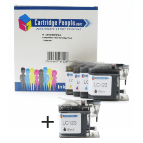 Compatible- Brother- LC123- Black- &- Colour- Ink- Cartridge- 5 -Pack (Own Brand)